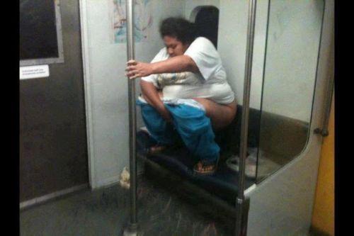 Apreton en pleno metro