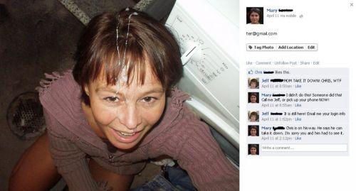 Mi madre en Facebook