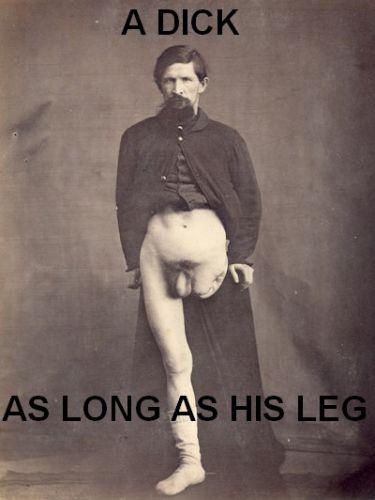 Este señor pidió una polla igual de larga que su pierna