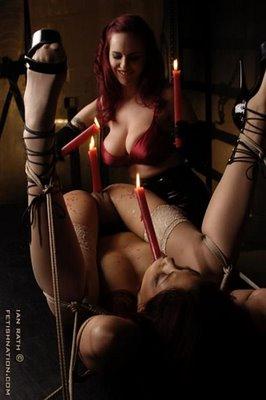 Juegos eroticos con velas y cera caliente