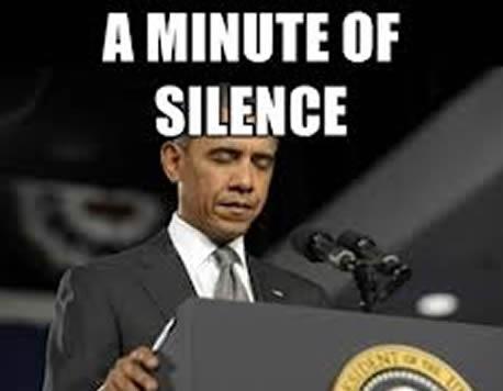 minute silence obama