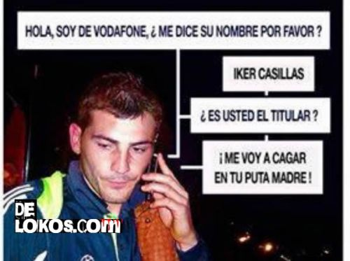 Iker Casillas y Vodafone