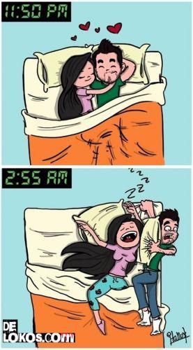 Dormir con tu pareja diferencias