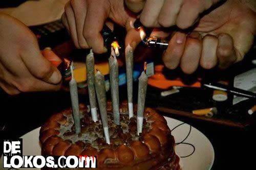 cumpleaños marihuanero