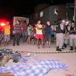 Imagen Accidente de moto con cabeza abierta