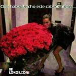 Imagen Cuando una mujer recibe una ramo de rosas….