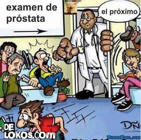 examen de prostata humor