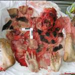 Imagen Hombre brutalmente asesinado y destrozado, muy gore