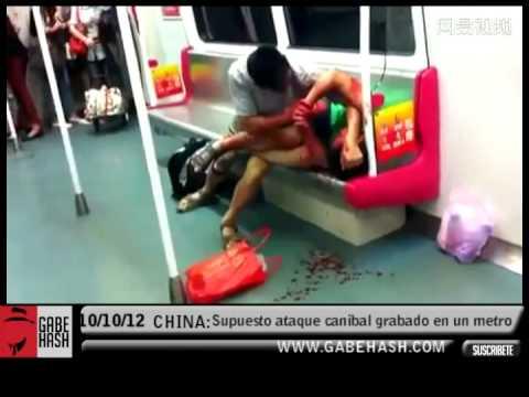 Canibalismo en el metro de China