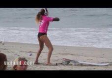 Imagen Así calienta la surfista Anastasia Ashley antes de Surfear