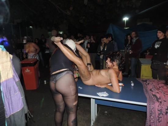 Bacanal de sexo satánico