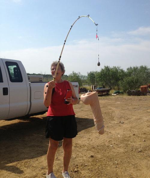 Mi Madre de pesca