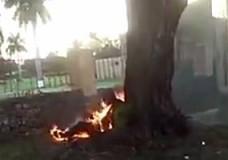 Imagen Hombre en llamas