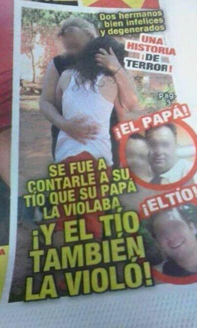 La viola el padre, la viola el tio
