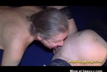 Preñada en un GangBang