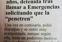 Llama a emergencias para que la penetren