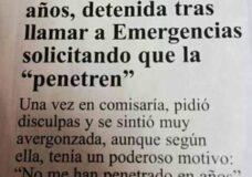 Imagen Llama a emergencias para que la penetren