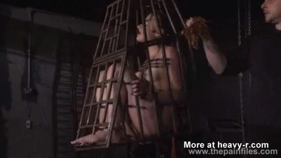 Metida en una jaula como un pajaro