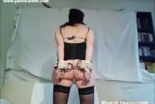 torturada con cadenas miniatura