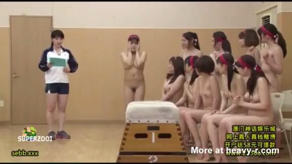 Asiáticas gimnastas desnudas