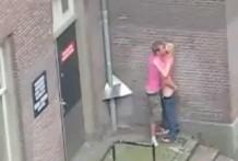 Follando en el centro de Amsterdam