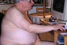 abuelos, viejos, desnudos