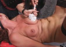 Sexo con la escobilla del water