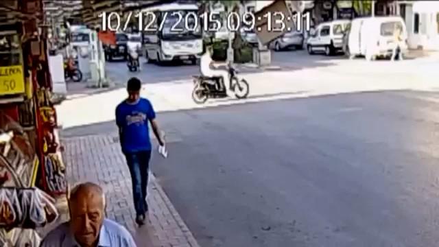 Abuela atropellada por un autobús