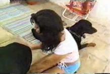 Sexo con dos perros de raza rottweiler