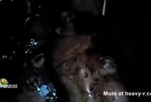 Mujer gorda sacrificada y asesinada como un cerdo