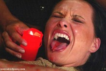 cera caliente en la lengua