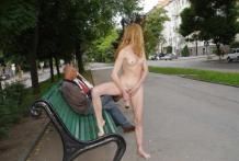 masturbación en la calle