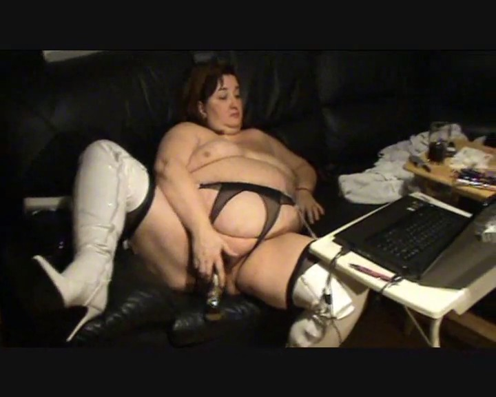 Mega Gorda por la webcam