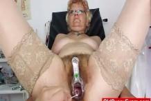 Abuela peluda con tetas grandes