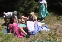 Epica orgia en la montaña