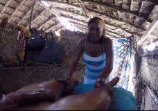 Imagen Africana hace unas pajas de infarto
