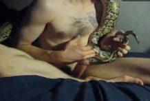 Chico tiene sexo con su serpiente