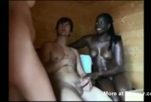 interracial trio amateur miniatura