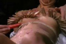 BDSM con pinzas de la ropa