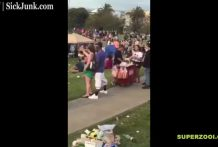 Borrachos follando en un parque