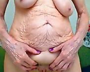 Una abuelita muy arrugada