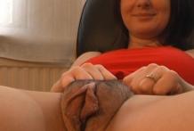 Asombrosa vagina gorda que tiene la madura