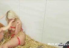 Imagen Cowgirl Follada por dos toros
