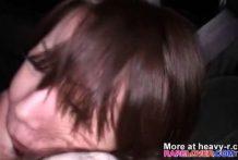 Violación a una japonesa en el capó del coche