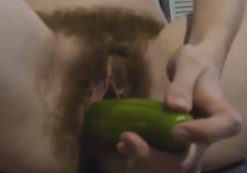 Imagen Masturbación melenuda con verduras