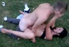 Imagen Sexo salvaje en un parque público de Rusia