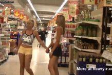 Madres follando por todo el supermercado