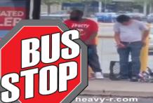 Sexo público en la parada de autobús