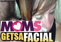 Mi madre tomando un enorme facial