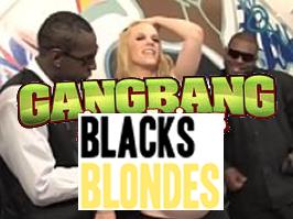 Preñada gangbang con varios negros